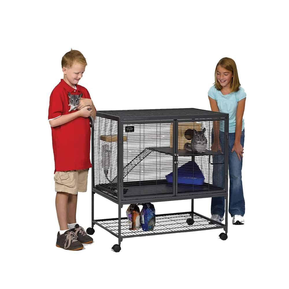 MidWest Homes for Pets Critter Nation Double Unit with Stand