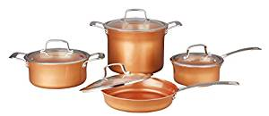 Concord 8-Piece Ceramic-Coated Copper Cookware