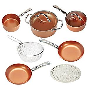 Copper Chef Cookware 9-Piece Round Pan Set