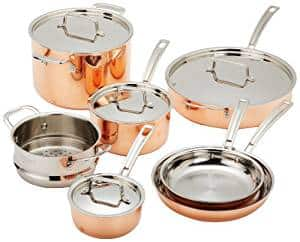 Cuisinart Copper Stainless Steel 11-Piece Cookware Set