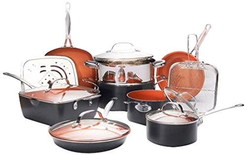 Gotham Steel Ultimate 15-Piece Kitchen Set with Non-Stick Ti-Cerama Copper Coating