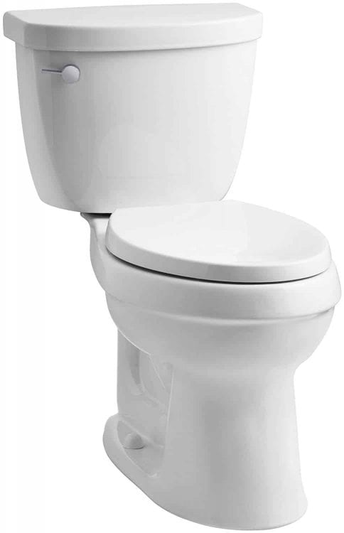 KOHLER Cimarron Comfort Height Elongated 1.28 gpf Toilet with AquaPiston Technology, Less Seat