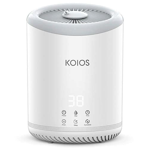 KOIOS Ultrasonic Cool Mist Humidifier With 3 Adjustable Mist Settings