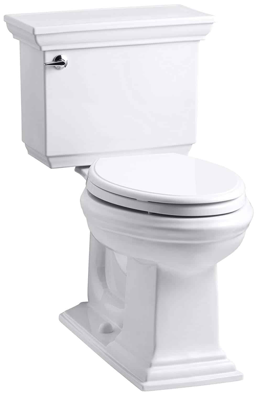 Kohler Memoirs Stately Comfort Height Two-Piece Elongated 1.28 GPF Toilet with AquaPiston Flush Technology and Left-Hand Trip Lever