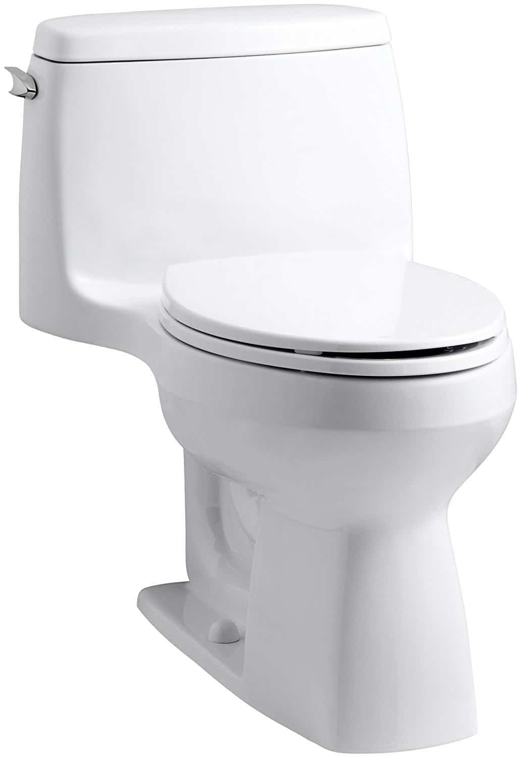 Kohler Santa Rosa Comfort Height Elongated 1.28 GPF Toilet with AquaPiston Flush Technology and Left-Hand Trip Lever