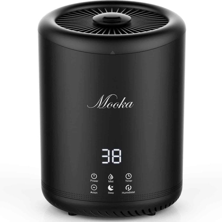 MOOKA Ultrasonic Cool Mist Humidifier With 4 Liter Large Capacity