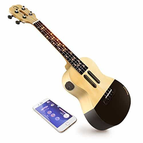 Popuband Populele Smart Ukulele – LED Fretboard, Bluetooth Connection – Free app for iOS and Android, Game Mode for Beginners – Acoustic Concert Size