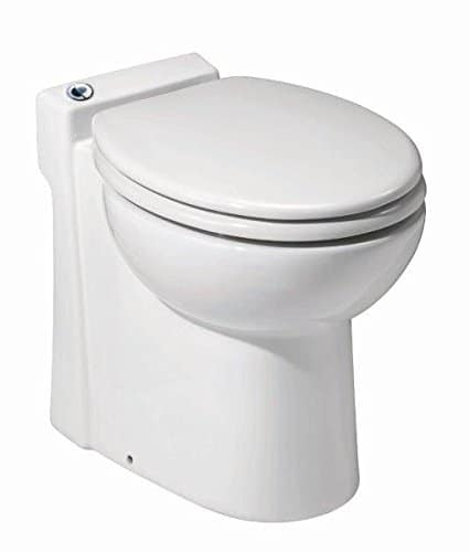 Saniflo Sanicompact 48 One piece Toilet with Macerator Built Into the Base, White