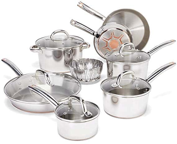 T-fal Ultimate Stainless Steel Copper-Bottom Cookware Set
