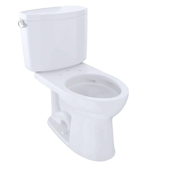 TOTO Drake II 2-Piece Toilet with Elongated Bowl and Sanagloss,1.28 GPF