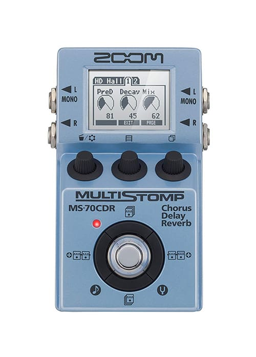 Zoom ZMS70CDR MS-70CR MultiStomp Chorus/Delay/Reverb Pedal