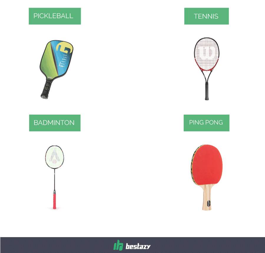 paddle types - 10 Fast-Moving Pickleball Paddles  — Serve, Hit, Volley, and Dink in 2018