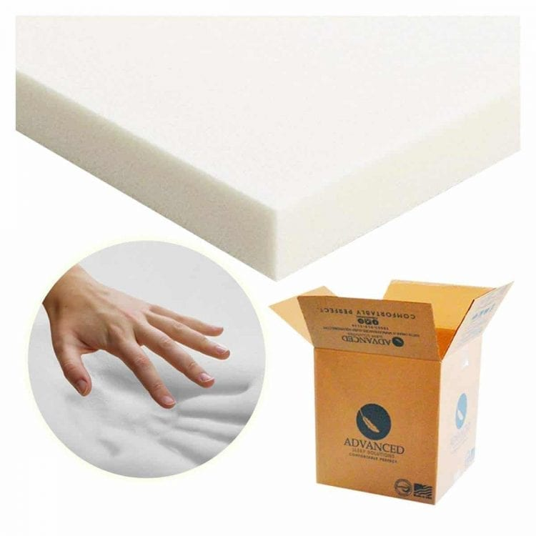 Advanced Sleep Solutions Memory Foam Mattress Topper