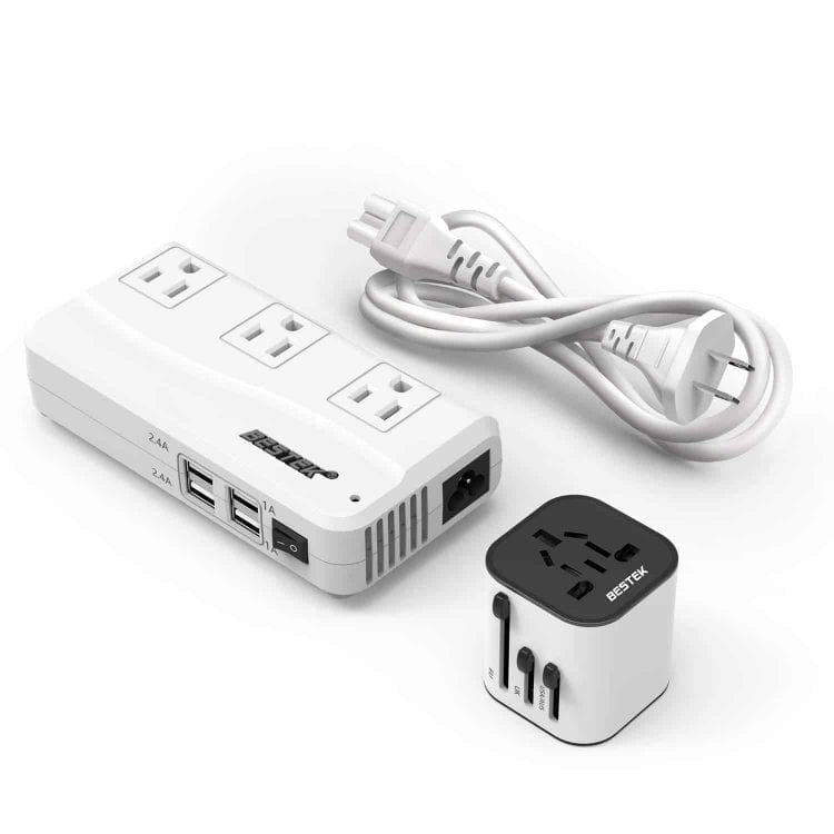 BESTEK Travel Adapter and Converter Combo