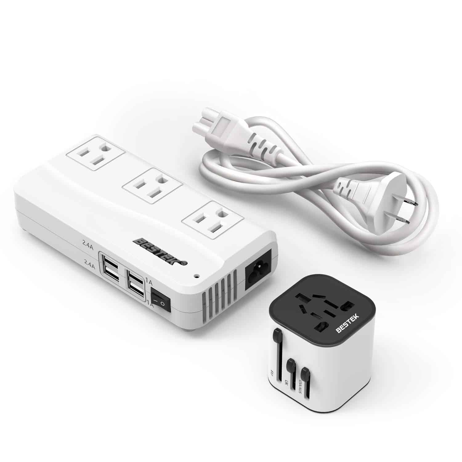 BESTEK Travel Adapter and Converter Combo