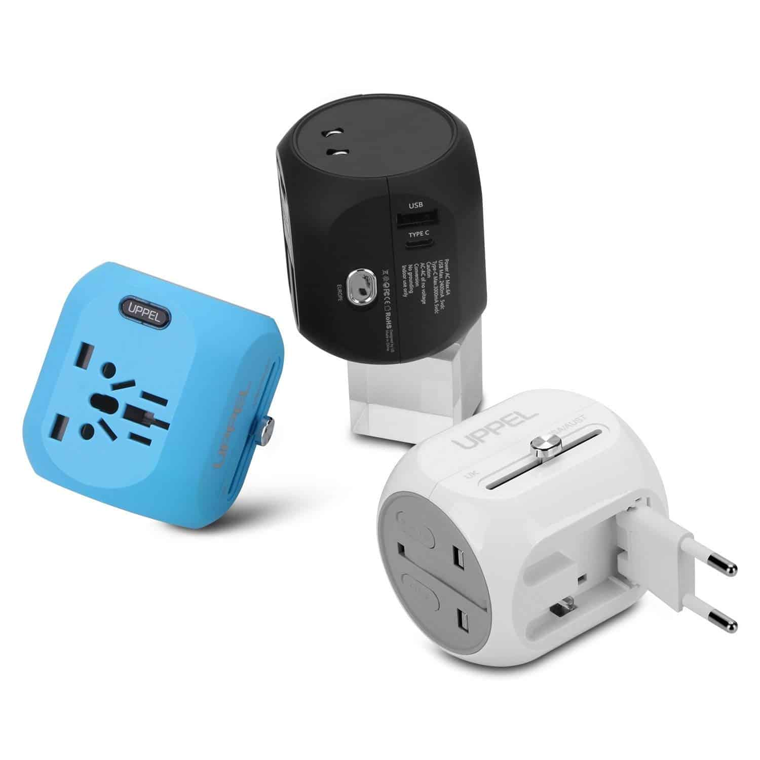 UPPEL 3 Packs Travel Adapter