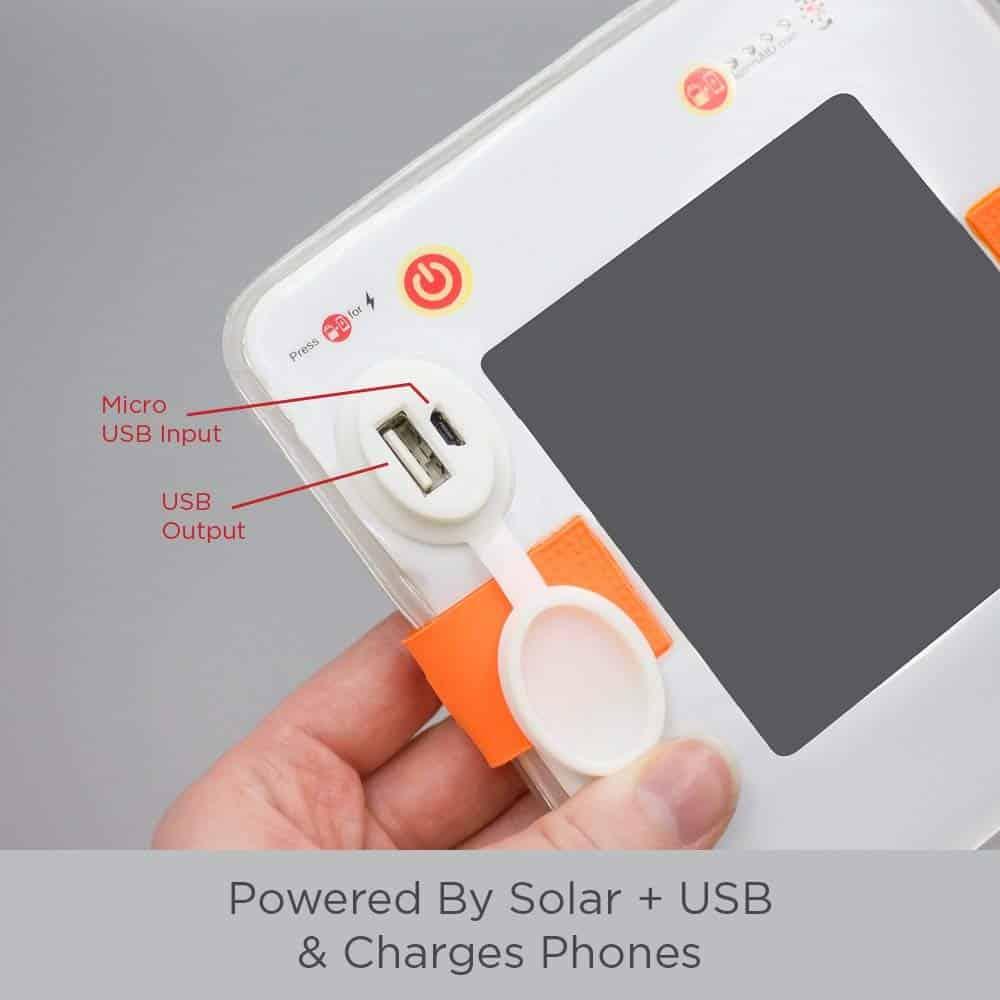 Solar Lantern Phone Charger
