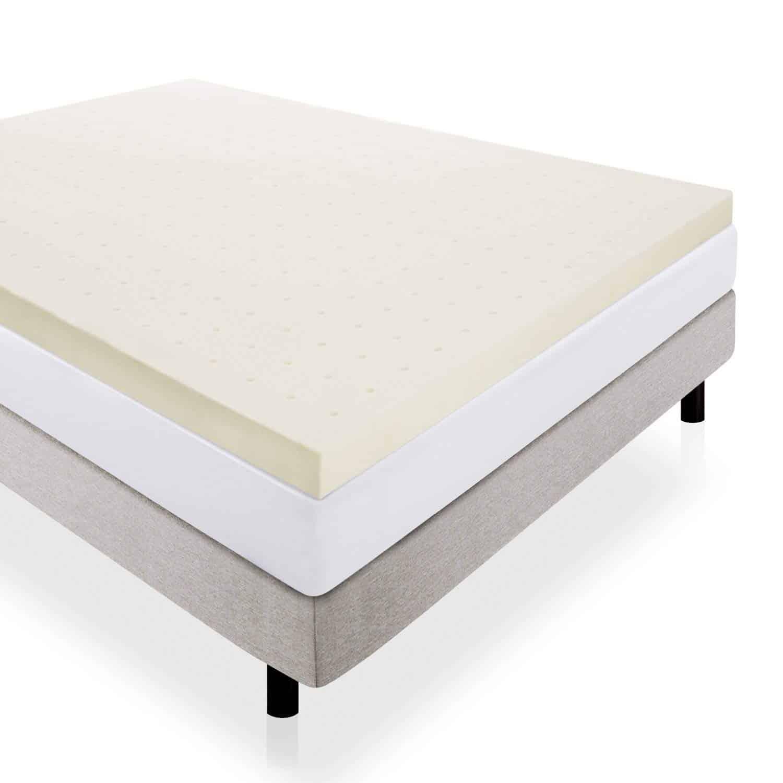 LUCID 4-Inch Memory Foam Mattress Topper