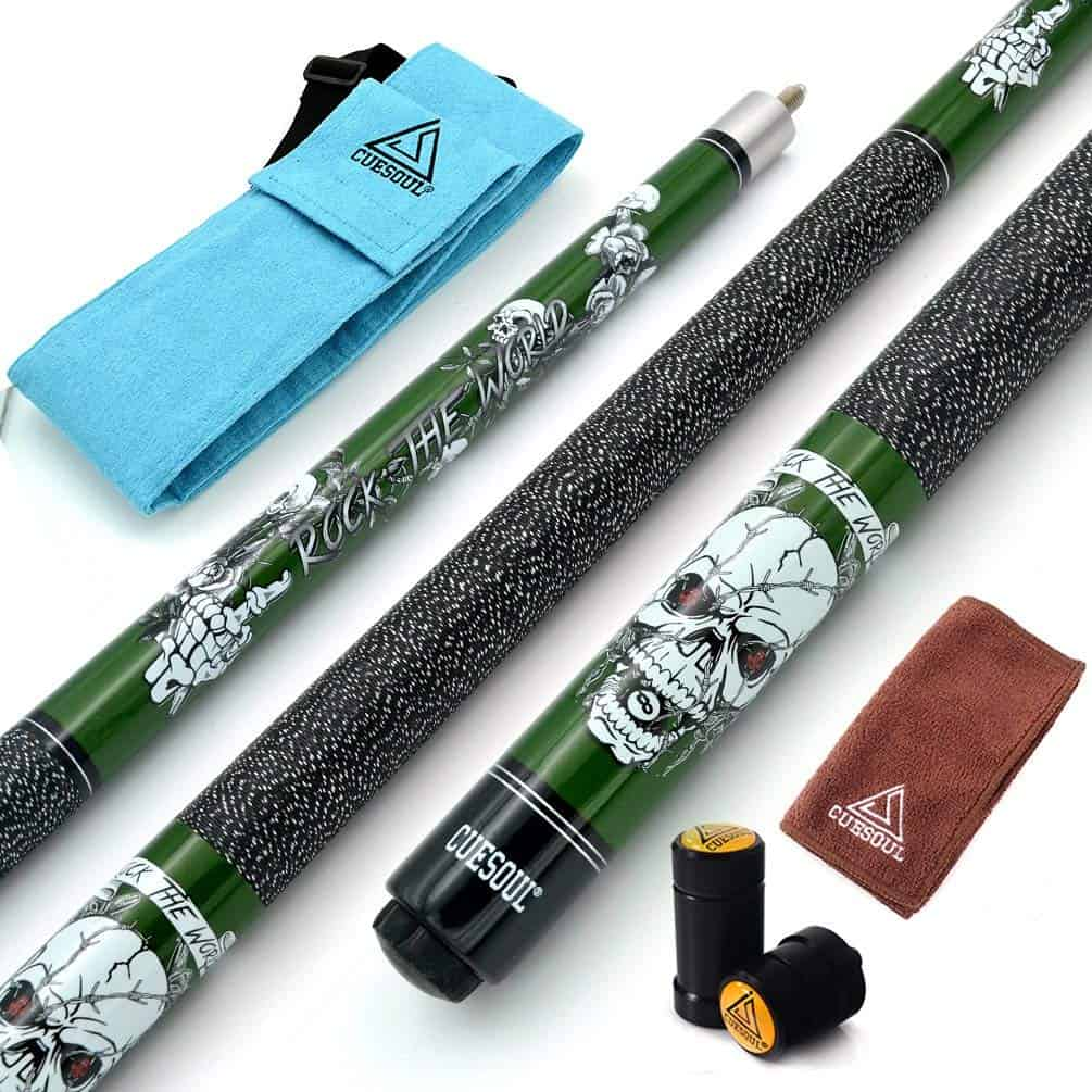 Cuesoul Maple Pool Cue Stick Kit-Rockin Series