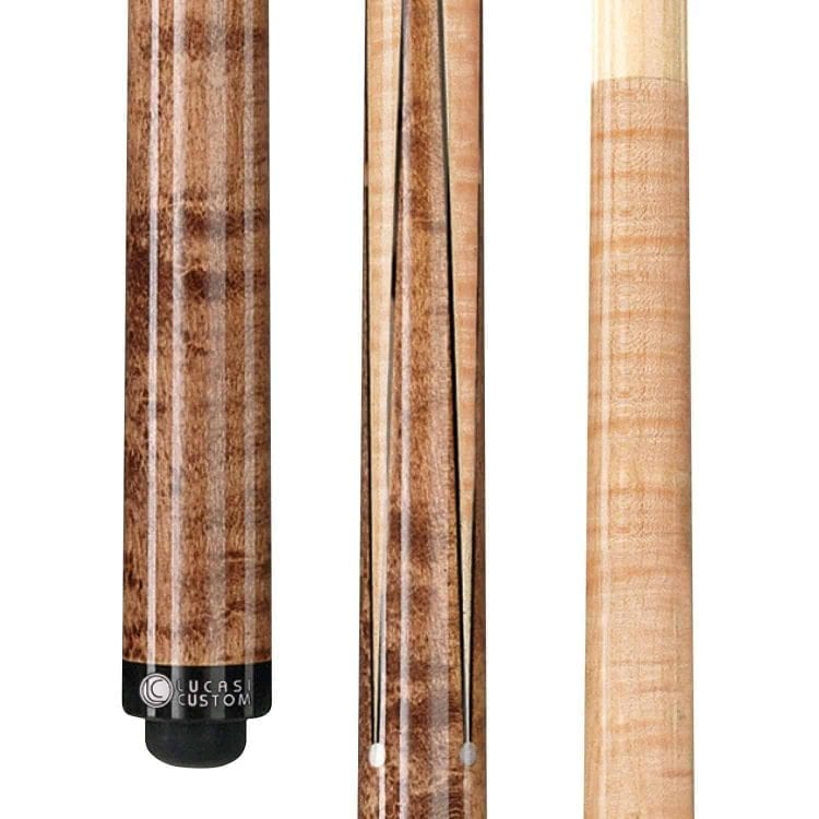 Lucasi Custom Super Birds-Eye Maple Sneaky Pete Pool Cue with Upgraded Shaft