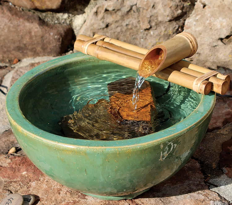 Freestanding Bamboo Fountain