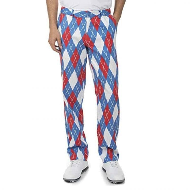 Tipsy Elves Men's American Flag USA Golf Pants