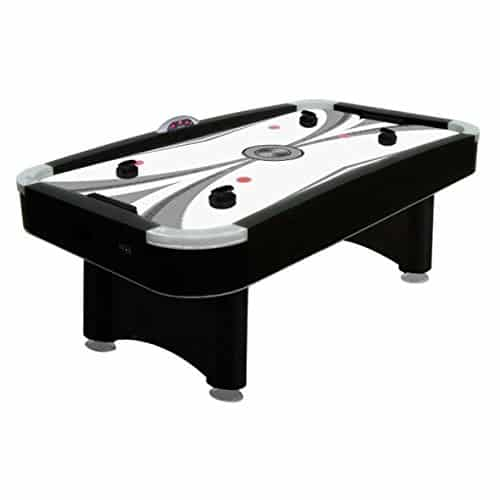 Premium Black 7-foot Air Hockey Chrome Table