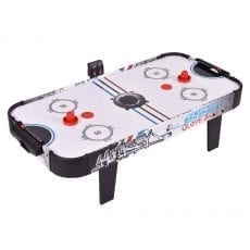 Goplus 42″ Air Powered Hockey Table Game Room Indoor Sport Electronic Scoring 2 Pushers