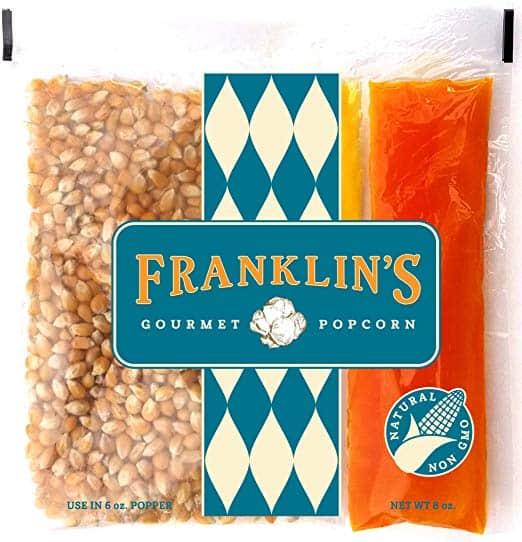 Franklin's Gourmet Movie Theater Popcorn