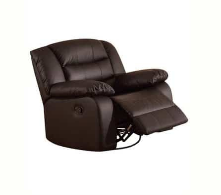 Belleze Faux Leather Rocker and Swivel Glider Recliner