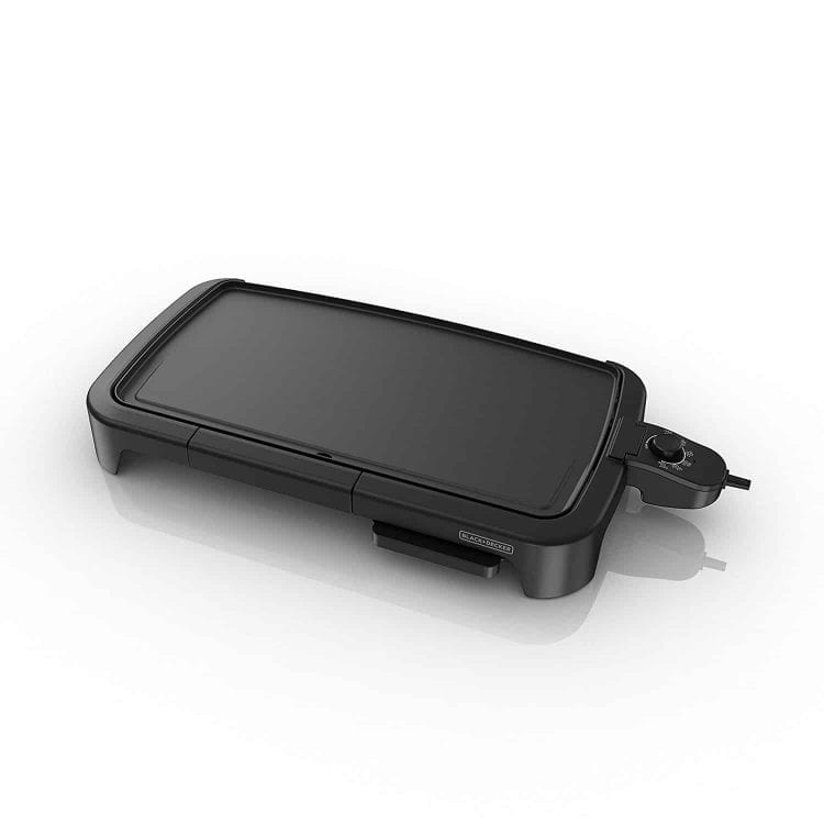 BLACK+DECKER Family-Sized Electric Griddle with Drip Tray, GD2011B