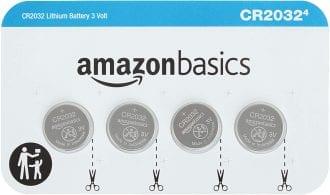 AmazonBasics CR2032 3 Volt Lithium Coin Cell Battery