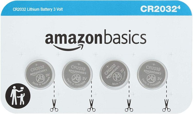 AmazonBasics CR2032 3 Volt Lithium Coin Cell Battery