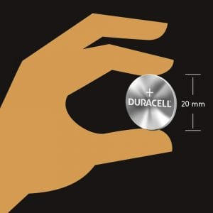 Duracell CR2032 dimension