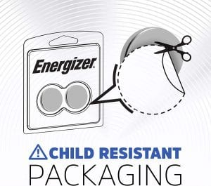 Energizer CR2032 child-safe packing