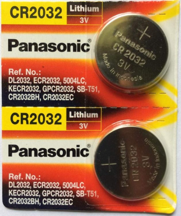 Panasonic CR2032 3 Volt Lithium Coin Battery