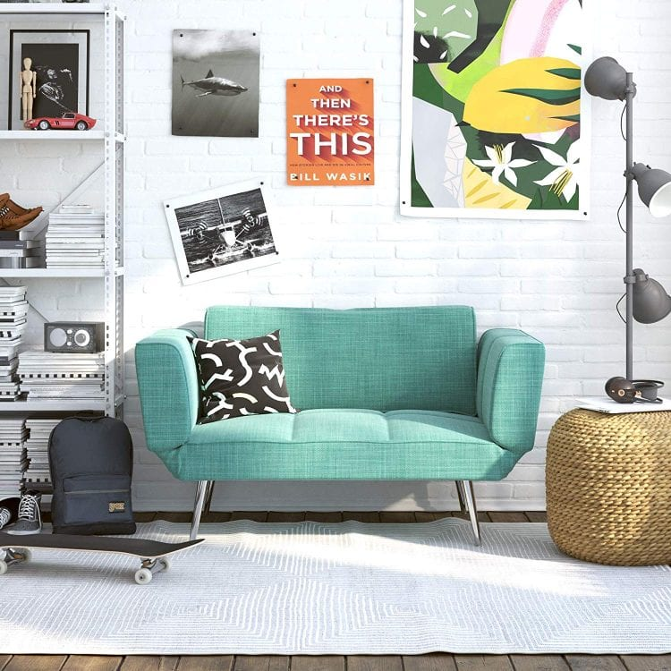 Novogratz Leyla Loveseat with Magazine Storage